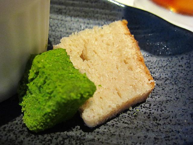 抹茶わらび餅&小豆のケーキ