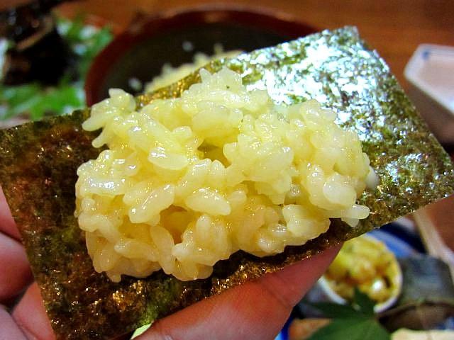 至福の卵かけご飯 海苔包み2