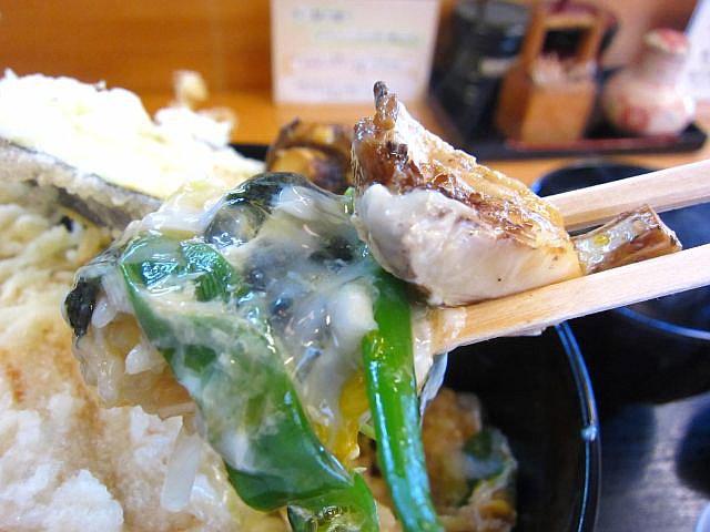 秋の特撰天とじ丼 ご飯お箸もち1