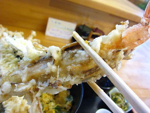 海老の松茸みの揚げ お箸もち