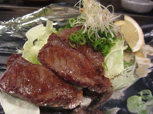 厚切り タンステーキ 1580円