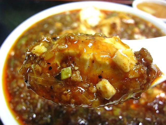 マーボ-豆腐 レンゲ持ち