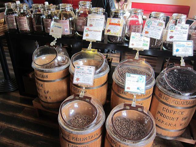 店中 コーヒー豆