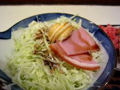 野菜サラダ 醤油がけ