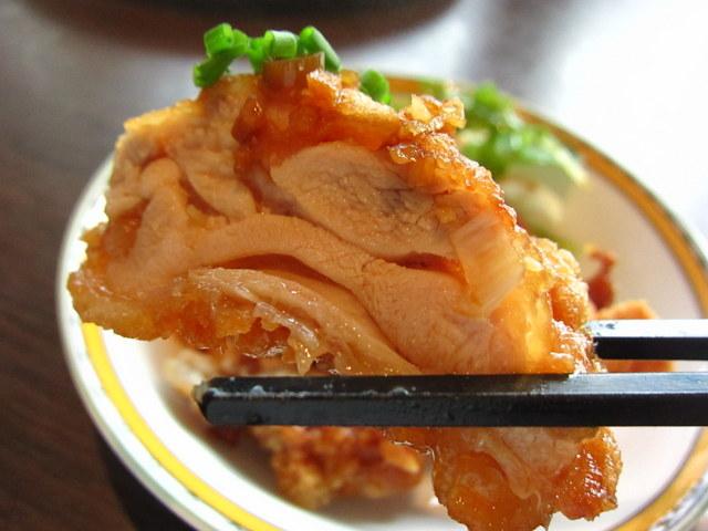 大山鶏の唐揚げ 香味ソースがけサラダ添え お箸持ち