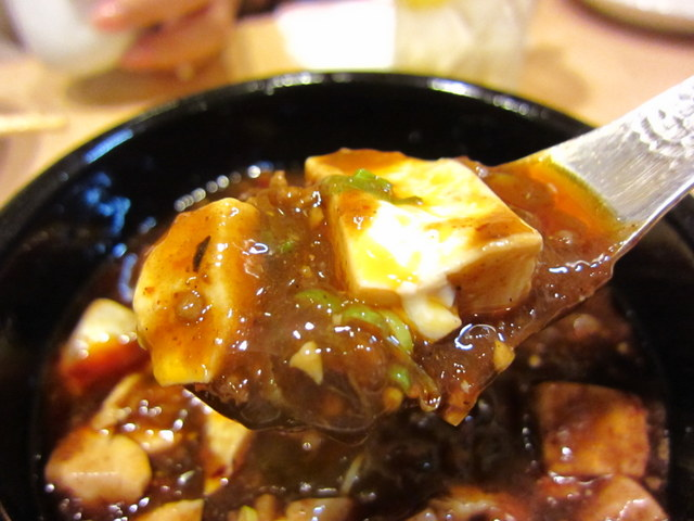 陳麻婆豆腐(激辛) レンゲ持ち