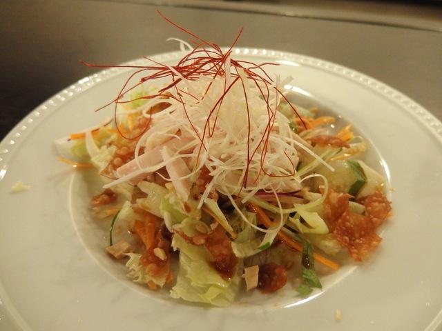 蒸し鶏の冷菜 サラダ仕立て