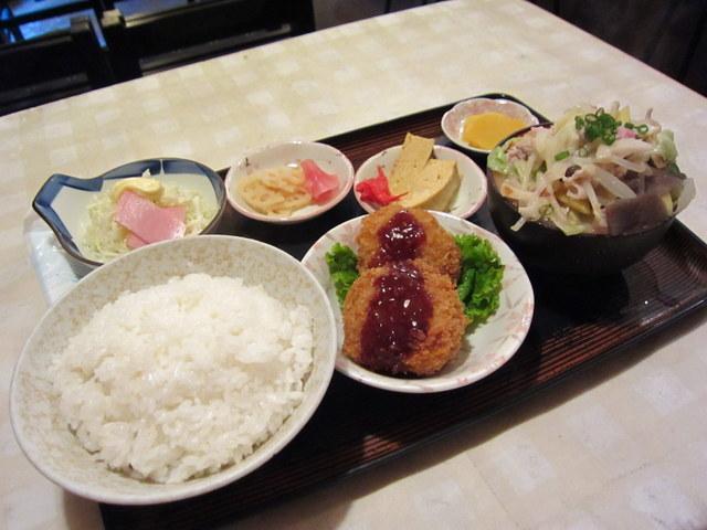 豚汁(小)定食