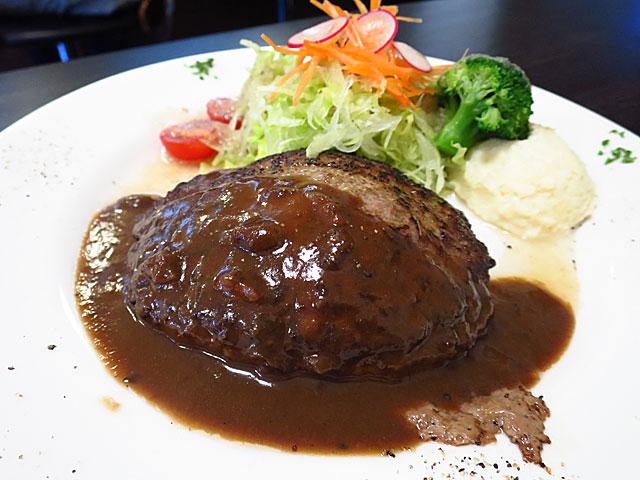 洋食うめの ビーフハンバーグステーキ