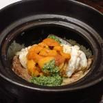 高槻  『料理道楽 築漸 (ちくざん)』 中毒性のある雲丹と鯛の土鍋ご飯をまたまた食べにきちゃいました!