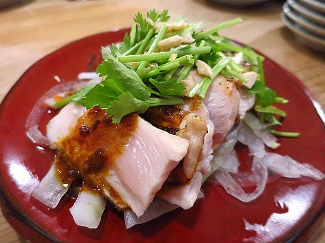 餃子屋チハラ 鶏ムネタタキよダレ