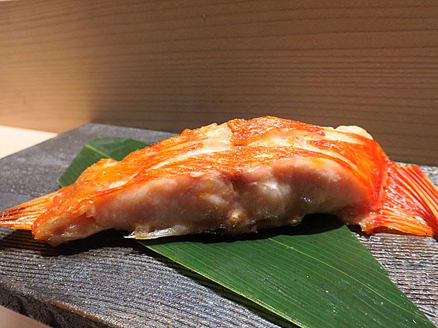 鮨 たくま 金目鯛塩焼き