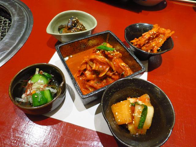 焼肉トラジ 大阪ヒルトンプラザ ウエスト店 キムチ5種盛