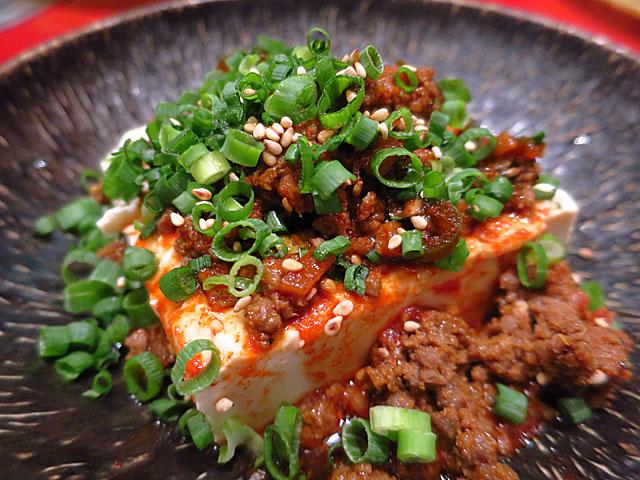 焼肉トラジ 大阪ヒルトンプラザ ウエスト店 韓国風ピリ辛冷やっこ