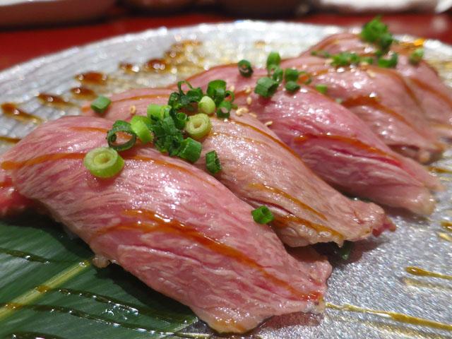 焼肉トラジ 大阪ヒルトンプラザ ウエスト店 サーロイン握り