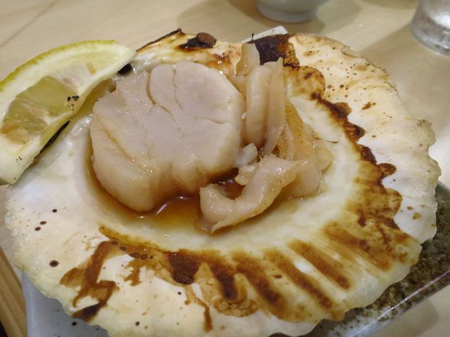 マル長 鮮魚店 ホタテ浜焼き