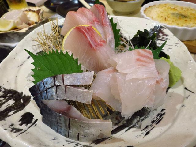 マル長 鮮魚店 本日の造り盛り合わせ3種