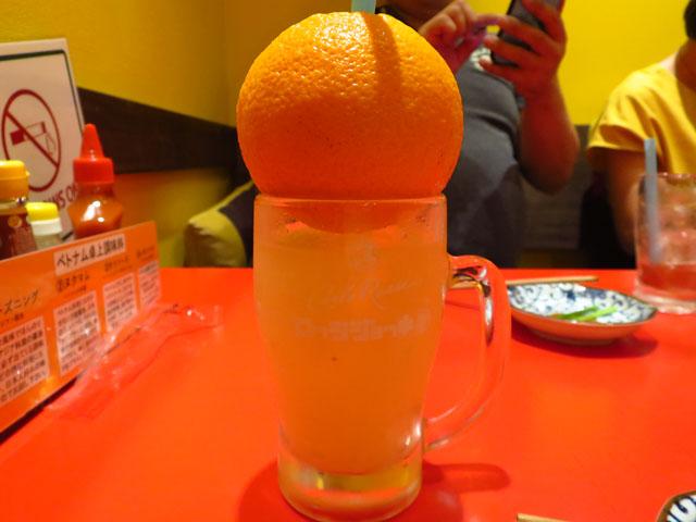 ベトナム屋台酒場 デンロン カジュッタオレンジ