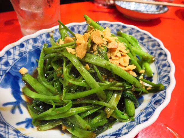 ベトナム屋台酒場 デンロン 空心菜のガーリック炒め