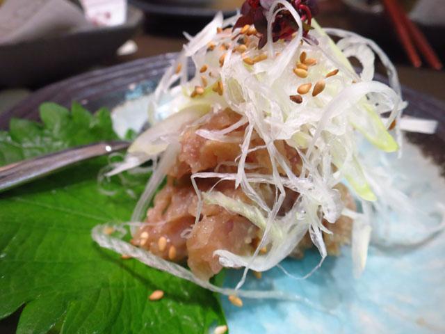 とろさば料理専門店 SABAR 阪急三番街店 さばのなめろう