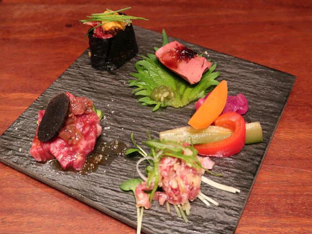 梅田肉料理きゅうろく おまかせ5種盛合せ