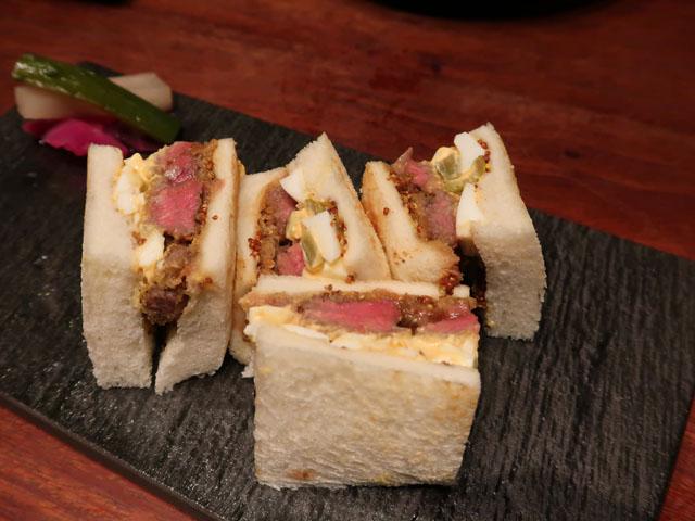梅田肉料理きゅうろく和牛かつサンド