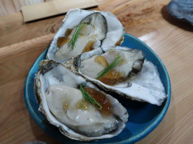 鮨ななお 広島産牡蠣 低温蒸し