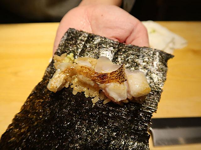 鮨処 池上 のどぐろ巻寿司