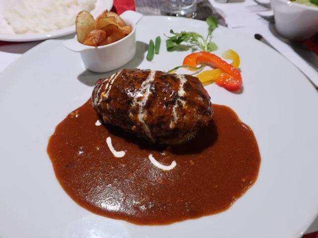 レストラン男山 黒毛和牛ハンバーグ