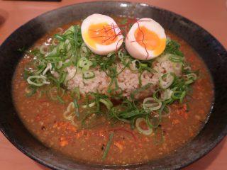 山猫家 煮卵の和風キーマカレー