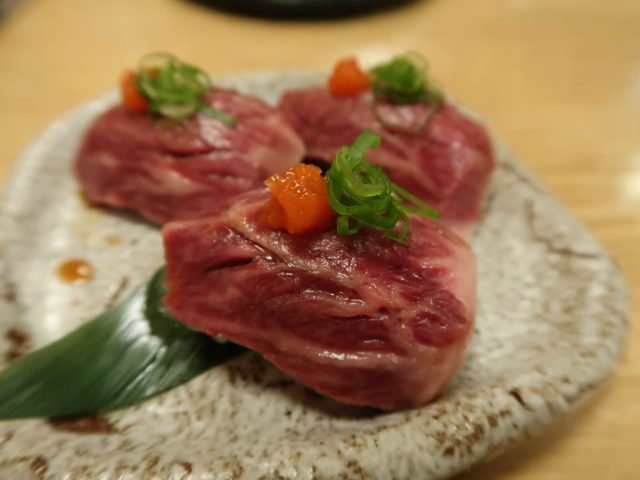 焼肉たまき ハラミ寿司