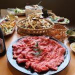 るり渓温泉『ゆすら庵』京都和牛と松茸すき焼き、焼き松茸・食べ放題90分プランが10月末まで堪能できます。