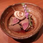 東大阪市『炭火串焼き 登鶏 (スミビクシヤキ トケイ)』ここの白肝煮は超ウルトラメチャ旨くて震えました。