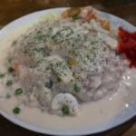 東大阪市『UKカフェ高井田店』このジャンキーなイカライスは学生時代と同じ味でした。