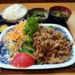 高槻市京口町『いててや』ポークジンジャー定食は何十年食べても安定の美味しさです。